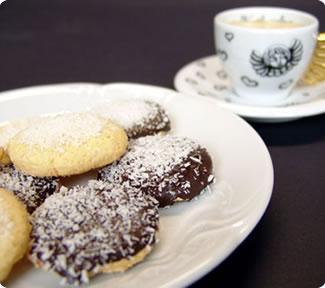Biscottini al cocco e cioccolato di Gaia