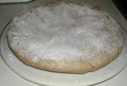 Crostata di farina di castagne con pere