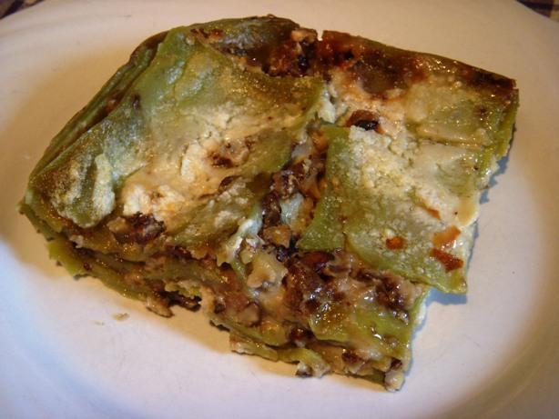 Lasagne verdi con gorgonzola e noci