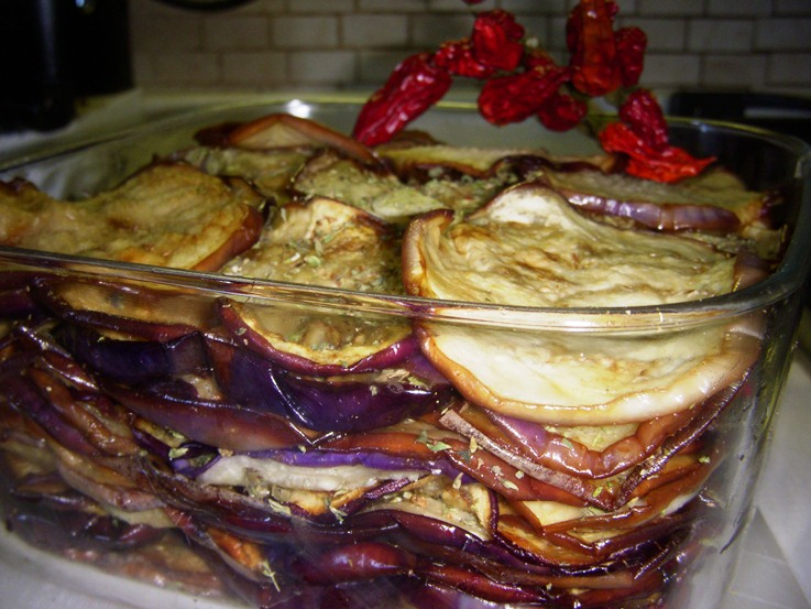 Melanzane fritte sfiziose sott'aceto