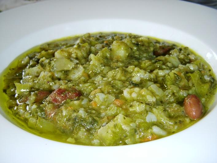 Minestrone di verdure con cereali