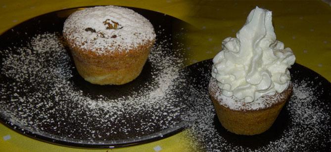 Tortini o muffin di mele alla cannella con grano saraceno
