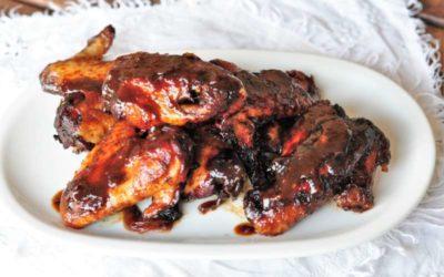 Alette di pollo al forno con coca-cola e salsa di soya