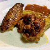 Alette di pollo speziate con salsa al Gorgonzola dolce DOP