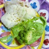 Baccalà su maionese di broccolo romanesco