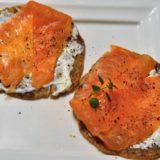 Barbotte di Pontremoli con formaggio spalmabile e salmone scozzese