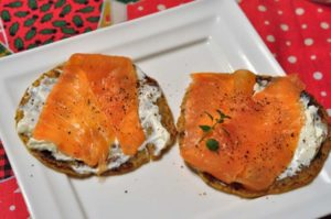 Barbotte pontremolesi con cream cheese Arla e salmone selvaggio