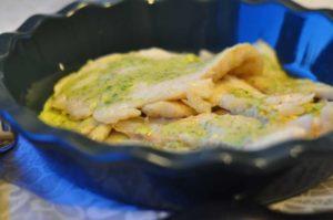 Black cod con salsa alle erbe aromatiche