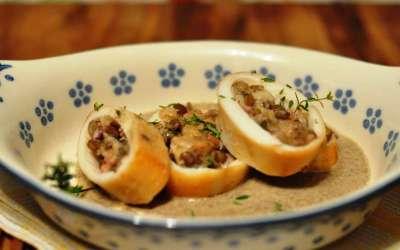 Calamari ripieni di lenticchie per lo chef Fulvio Pierangelini