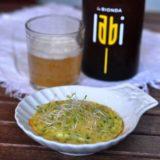 Capasanta in salsa Mornay alla birra bionda