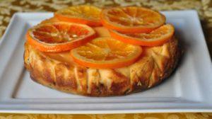 Cheesecake all'arancia Tarocco