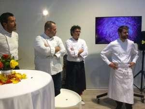 Gli chef Roberto Cerea, Fabio Barbaglini, Enrico Bartolini e Davide Palluda