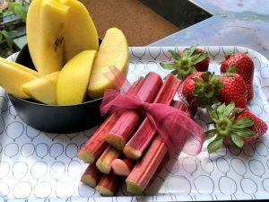 Confettura rabarbaro, mele e fragole - ingredienti