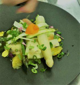 Asparagi cotti e crudi - Chef Pierrick Cizeron