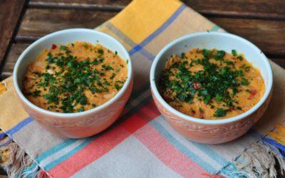 Antipasto piccante con tonno pinne gialle alla nduja calabrese