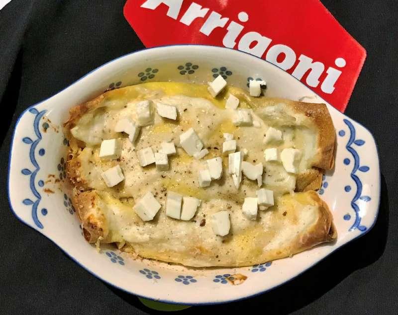 Crêpes con Quartirolo DOP Arrigoni Battista e bacon