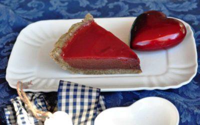Crostata al cioccolato con frolla al caffè e gelatina di arancia Tarocco di Sicilia