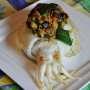 Seppie gratinate ripiene di miglio e verdure