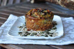 Egg muffin ai carciofi