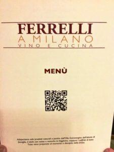 Trattoria Ferrelli a Milano, il menù