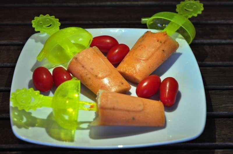 Ghiaccioli di gazpacho andaluso, dalla ricetta di Marina Cepeda Fuentes