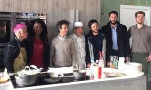 Gli chef convenuti alla presentazione di egoma perilla