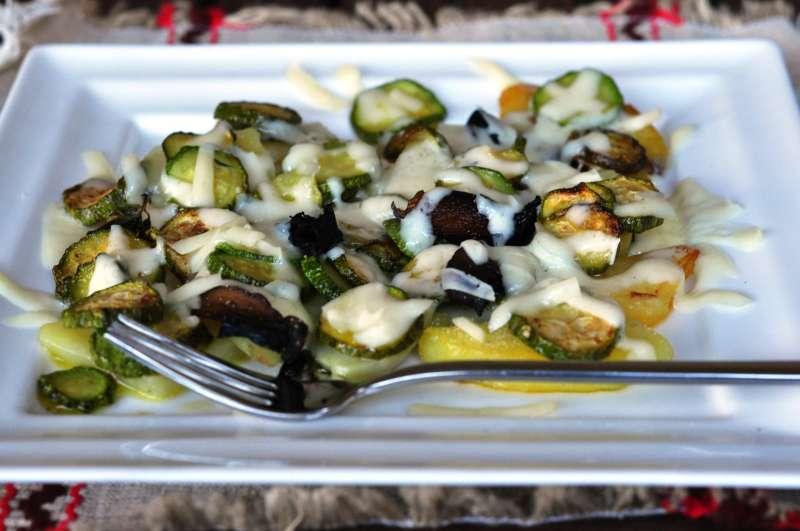 Gratin di patate e zucchine al Provolone Valpadana DOP