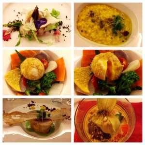 I deliziosi piatti creati dagli chef Fabio Castiglioni e Pier Carlo Zanotti per la serata Green & Glocal