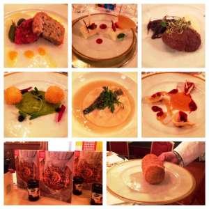 Questi alcuni dei piatti serviti ed il ibro di ricette dedicato alla serata