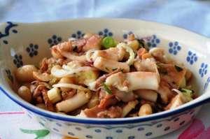 Insalata di moscardini con fagiolo Tondino del Tavo