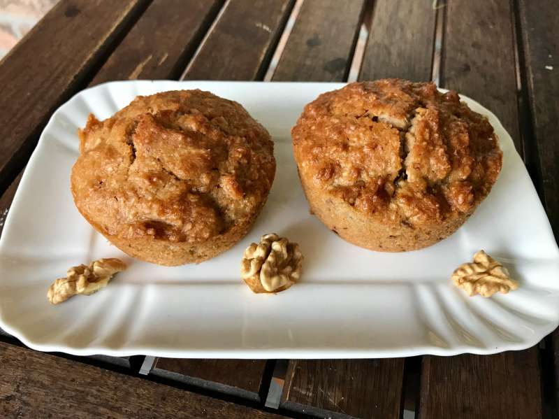 Muffin al cocco con albicocche senza lattosio