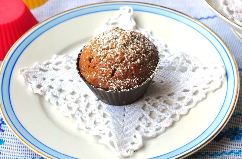 Muffin al grano saraceno con albicocche e pere e il forno multifunzione Bertazzoni