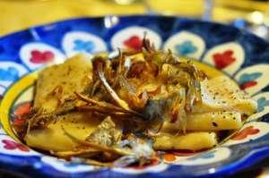 Paccheri Le Gemme del Vesuvio cacio e pepe con carciofi fritti