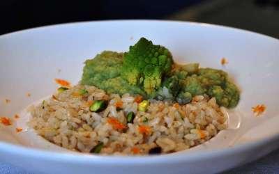 Pilaf di Rosa Marchetti con curry di broccolo romanesco