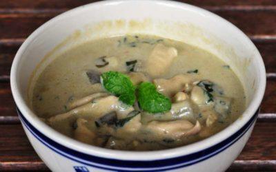 Pollo thai al curry verde