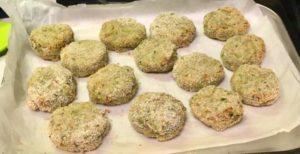 Polpette schiacciate di tacchino e broccoli