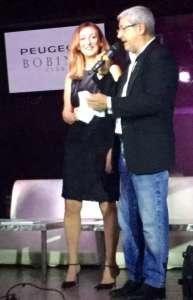 Tano Simonato e la moglie Nadia Zoetti sul palco del Bobino