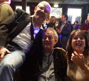 Tano con il giornalista e amico Alex Guzzi e la moglie Moira Pringle