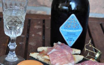 Bavarese di melone al pepe nero con prosciutto Marco D'Oggiono: un finger per il Prosecco Superiore di Valdobbiadene DOCG