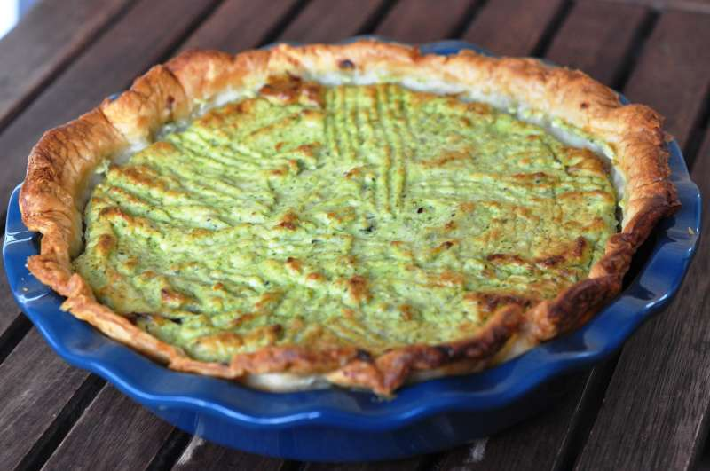 Quiche di broccoli e acciughe