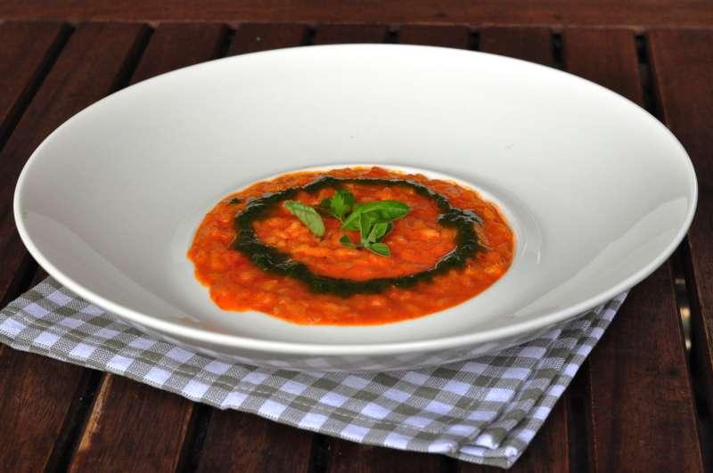 Riso Vialone Nano Riserva San Massimo ai peperoni rossi  con salsa alle erbe aromatiche