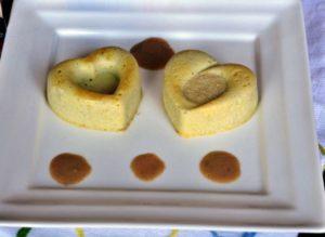 Sformatini di topinambur con salsa di acciughe