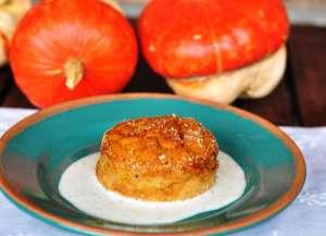 Sformatini di zucca su fonduta di Gorgonzola DOP