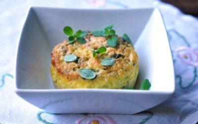 Sformatini al Salva Cremasco DOP con zucchine e fiori