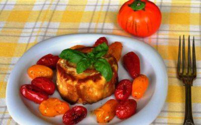 Sformatini di melanzane rosse di Rotonda con caciocavallo affumicato
