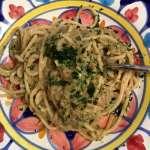 Spaghetti Pasta di Canossa con salsa di acciughe