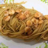 Spaghettino Carla Latini con gamberetti cotto nella bisque