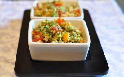 Taboulé crudo e cotto con erbe aromatiche