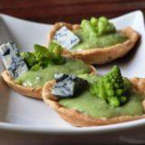 Tartellette di broccolo romanesco e Gorgonzola piccante Dopo romanesco e Gorgonzola piccante Dop
