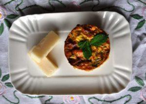 Sformatino di zucchine con Pecorino Romano DOP e menta